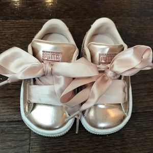 Puma Rose Gold Baby Sneakers